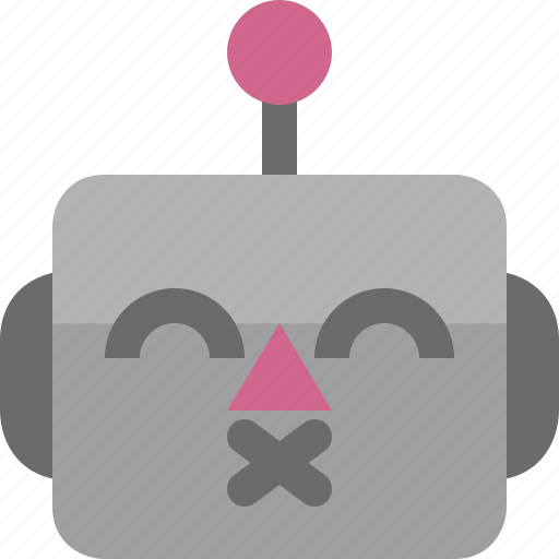 avatar, cute, emoji, emoticon, kiss, machine, robot icon