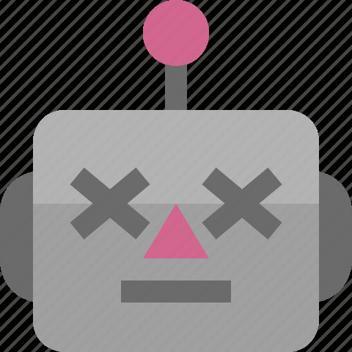 avatar, cute, emoji, emoticon, lifeless, machine, robot icon