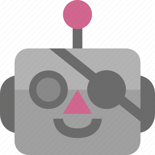 avatar, cute, emoji, emoticon, machine, pirate, robot icon