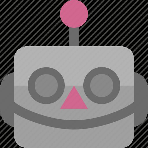 avatar, cute, emoji, emoticon, machine, robot, smile icon