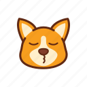 corgi, cute, dog, emoticon, expression, smile icon
