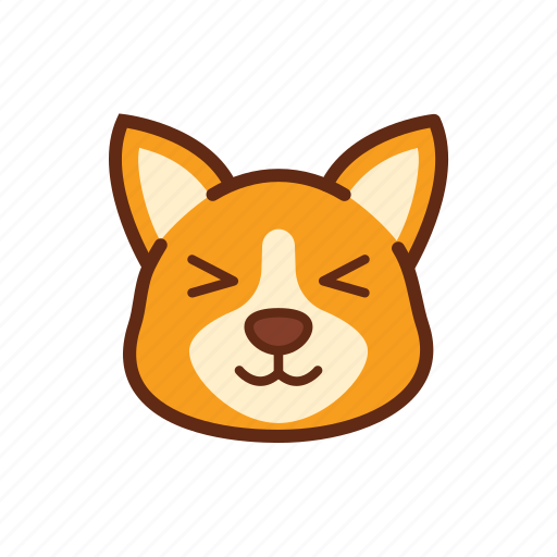 adorable, adore, corgi, cute, dog, emoticon, expression icon