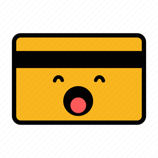 card, credit, debit, emoji, pay, payment, sleep icon
