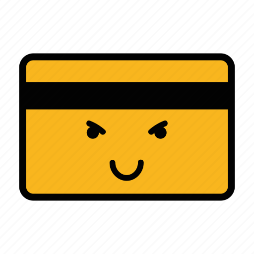 card, credit, debit, emoji, evil, pay, payment icon