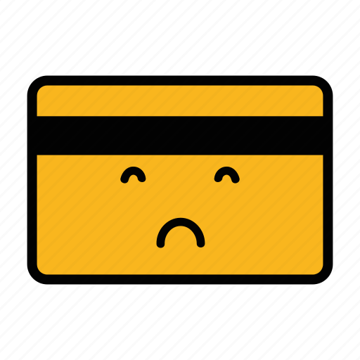bad, card, credit, debit, emoji, pay, payment icon