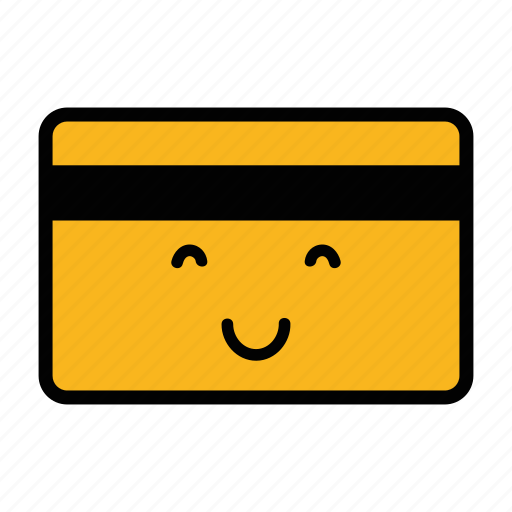 card, credit, debit, emoji, pay, payment, smile icon