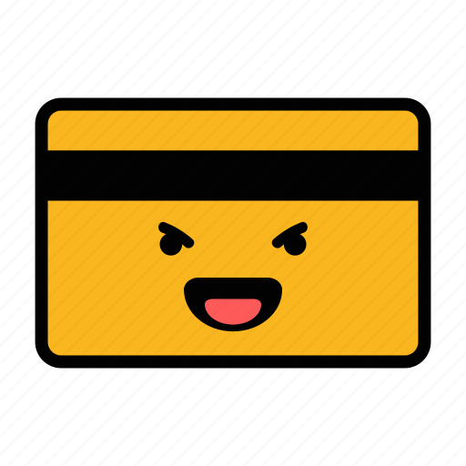 card, credit, debit, emoji, laughing, pay, payment icon