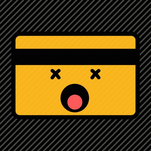 card, credit, dead, debit, emoji, pay, payment icon