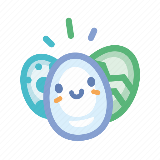 color, cute, easter, eggs, holidays, spring icon
