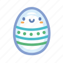 cute, easter, egg, green, holidays, spring icon