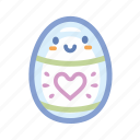 cute, easter, egg, heart, holidays, spring icon