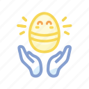 cute, easter, egg, god, gold, golden, hands