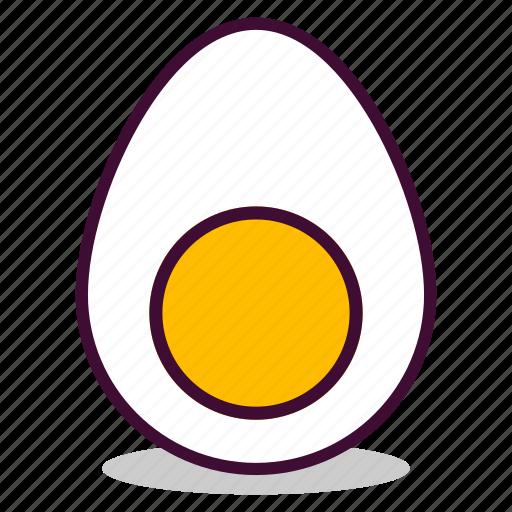 boiled, breakfast, egg, emoji, expression, yellow, yolk icon
