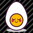 boiled, breakfast, egg, emoji, expression, good, yolk icon