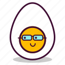 boiled, breakfast, egg, emoji, expression, study, yolk icon