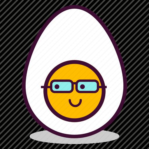 boiled, breakfast, egg, emoji, expression, study, yolk icon