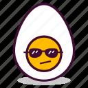boiled, breakfast, cool, egg, emoji, expression, yolk