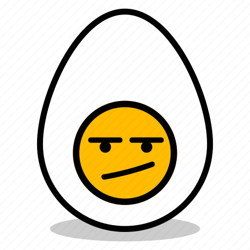 bad, boiled, breakfast, egg, emoji, expression, yolk icon