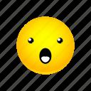 emoji, face, mouth, open