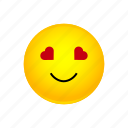 emoji, eyes, face, heart, love, smiling, with
