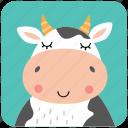 beef, cow, cute, face, head, milk, portrait
