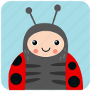 cute, face, head, insect, ladybug, portrait icon