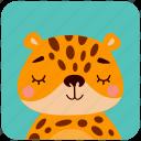 animal, cute, face, head, leopard, portrait icon