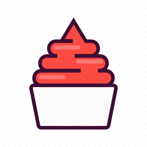 dessert, emoji, expression, frozen, ice cream, sweet, yogurt icon