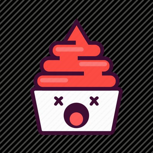 dessert, emoji, expression, frozen, ice cream, junk, yogurt icon