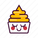 dessert, emoji, expression, frozen, ice cream, nice, yogurt icon