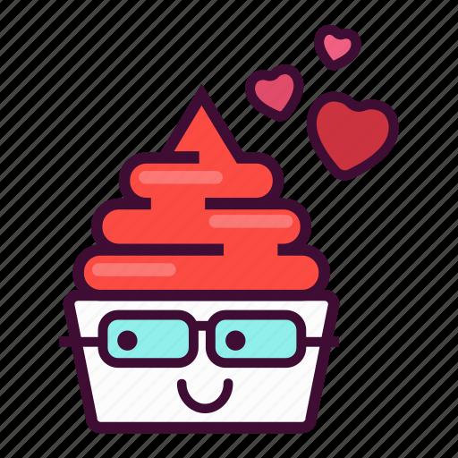 dessert, emoji, expression, frozen, ice cream, valentine, yogurt icon