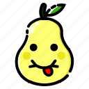 fruit, fruits, pear, sweet, vegetable icon