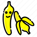 banana, fresh, fruit, fruits, vegetable icon