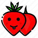 fruit, fruits, healthy, strawberry, vegetable icon