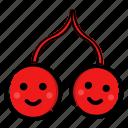 cherry, fruit, fruits, sweet icon