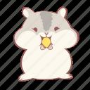 animal, cute, eat, emoticon, hamster, seed