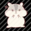 angry, animal, cute, grey, hamster, mad