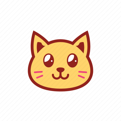 cute, emoticon, expression, eyes, kitty, shiny, smile icon