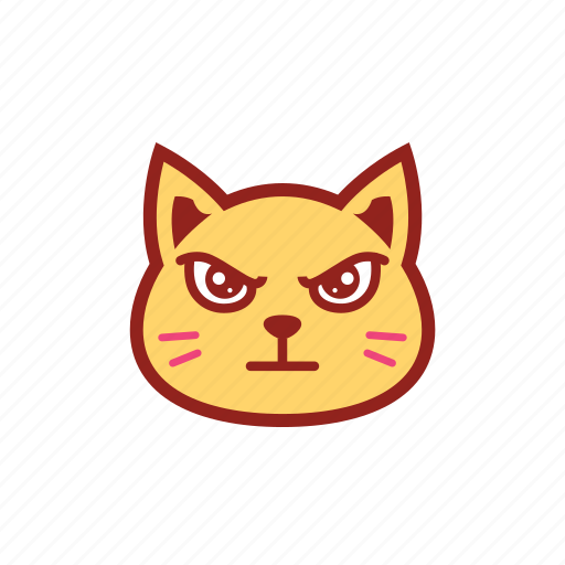 angry, cute, emoticon, expression, kitty, mad icon