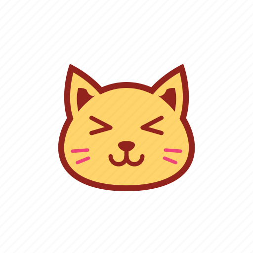 cute, emoticon, expression, kitty, smile, wink icon