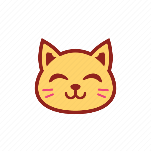 cute, emoticon, expression, kitty, smile icon