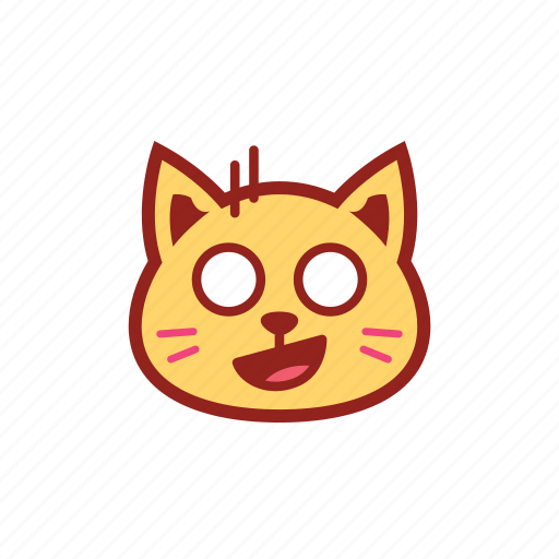 cute, emoticon, expression, kitty, shocked icon