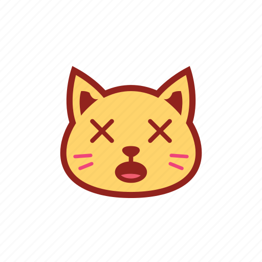 cross eyes, cute, emoticon, expression, kitty icon
