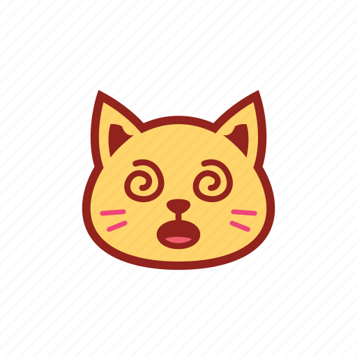 confuse, cute, emoticon, expression, kitty icon