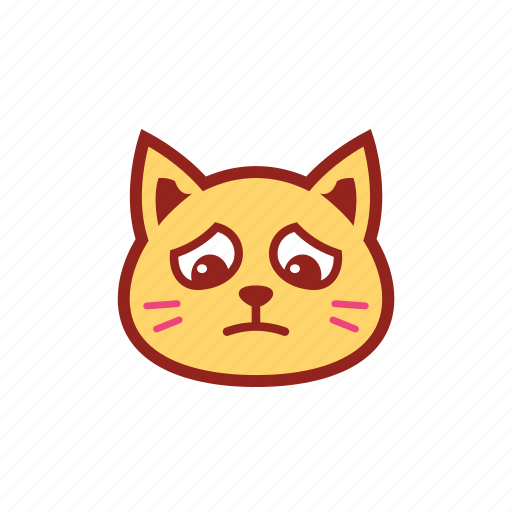 cute, emoticon, expression, kitty, sad icon