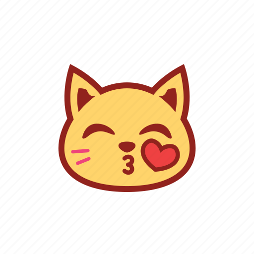 adorable, cute, emoticon, kiss, kitty, love, loveable icon