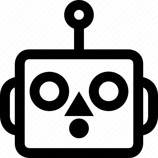 avatar, cute, emoji, emoticon, machine, robot, surprised icon