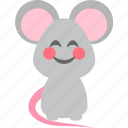 blushful, character, emoticon, mice, shy icon