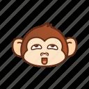 emoticon, expression, funny, monkey, pervert icon