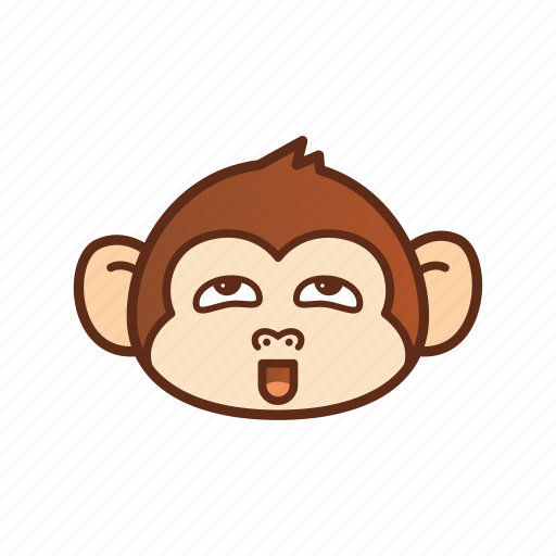 emoticon, expression, funny, monkey, pervert icon